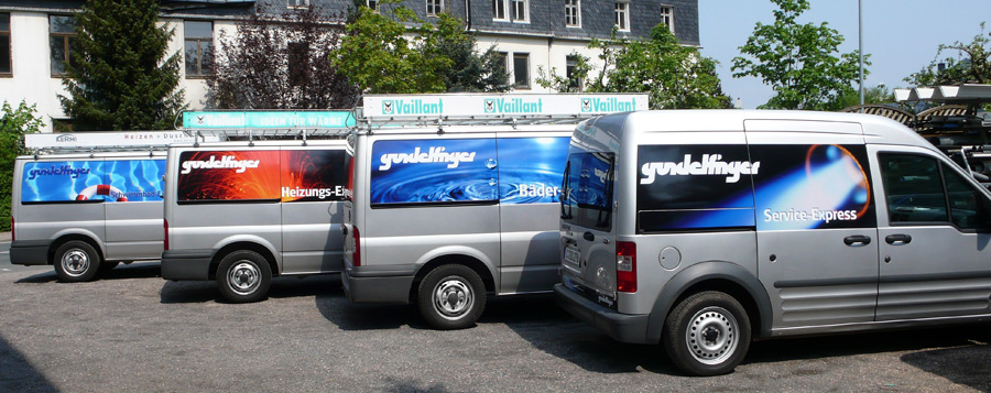 Gundelfinger Haustechnik: Fahrzeugflotte